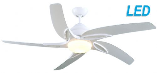"Fantasia Viper 54"" White Ceiling Fan + Remote Control +  LED Light 115663"